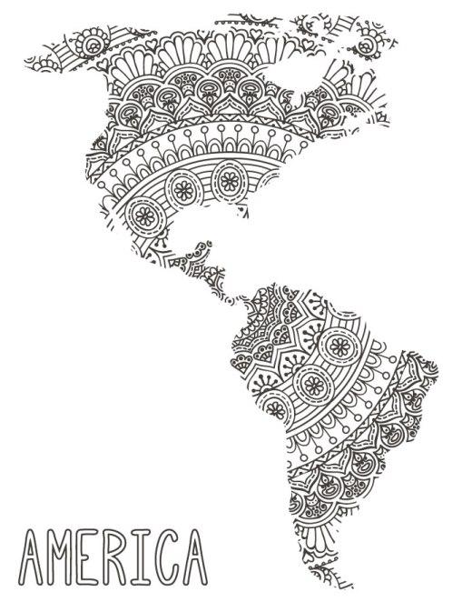 Imprimer poster gratuit Amérique mandalas
