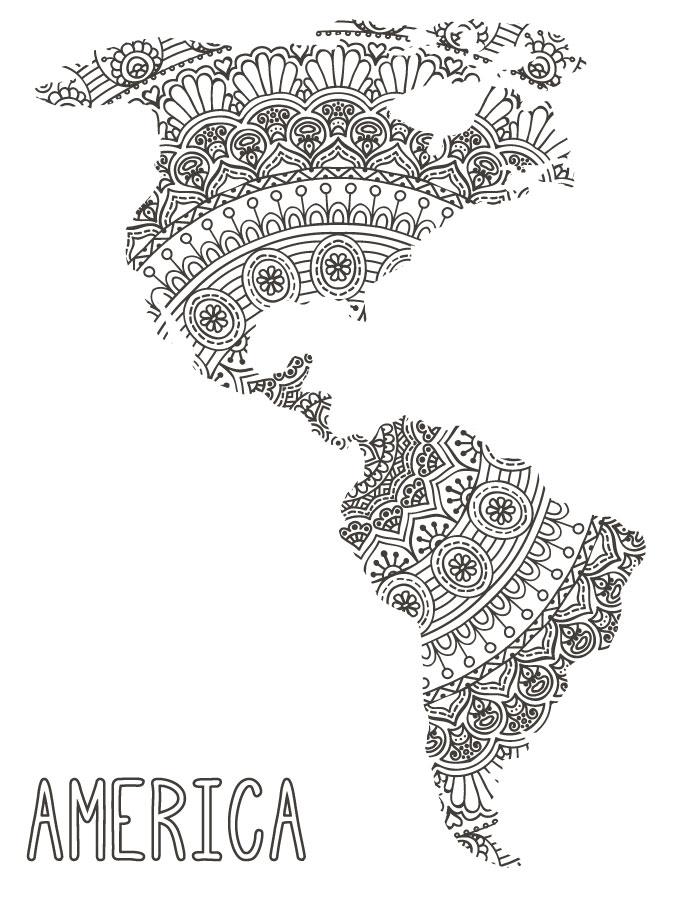 Imprimer Poster Gratuit Amérique Mandalas Artherapie Ca