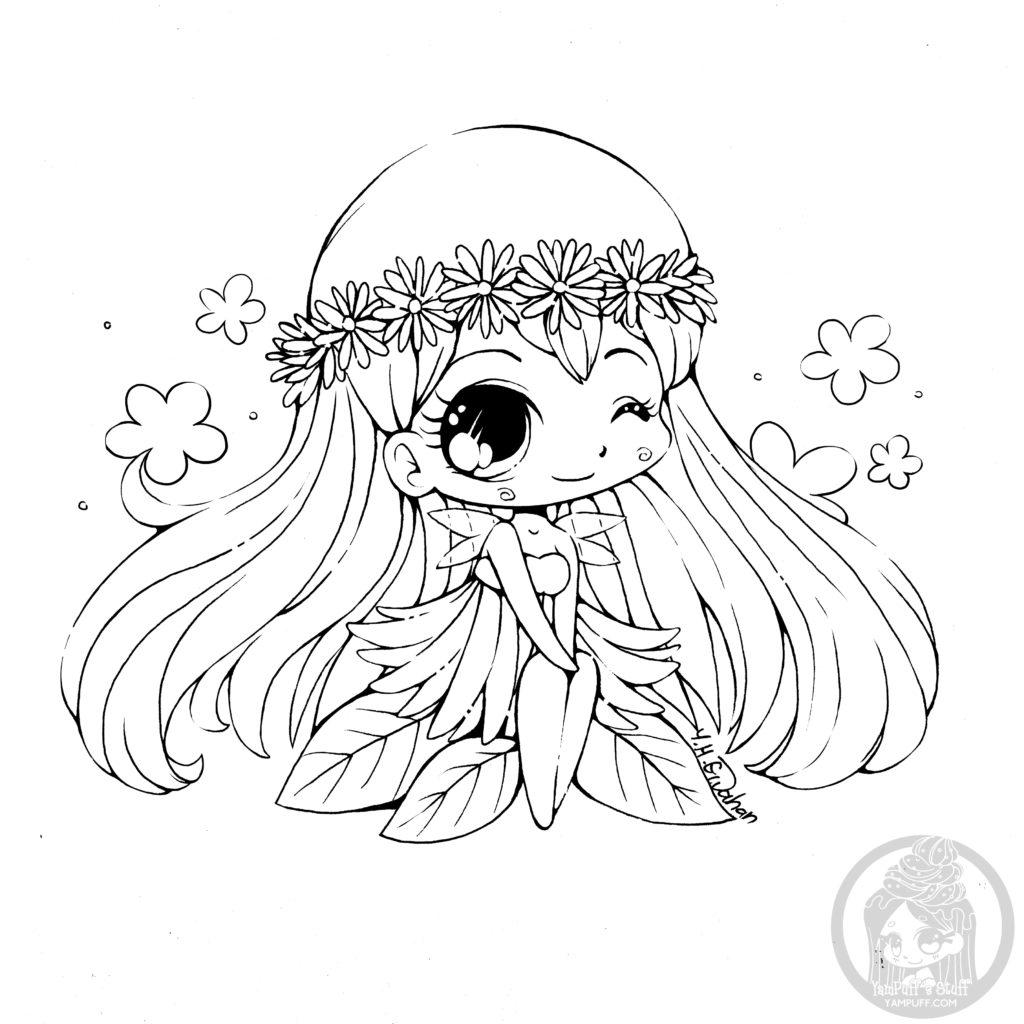 Chibi kawaii coloring pages par YamPuff
