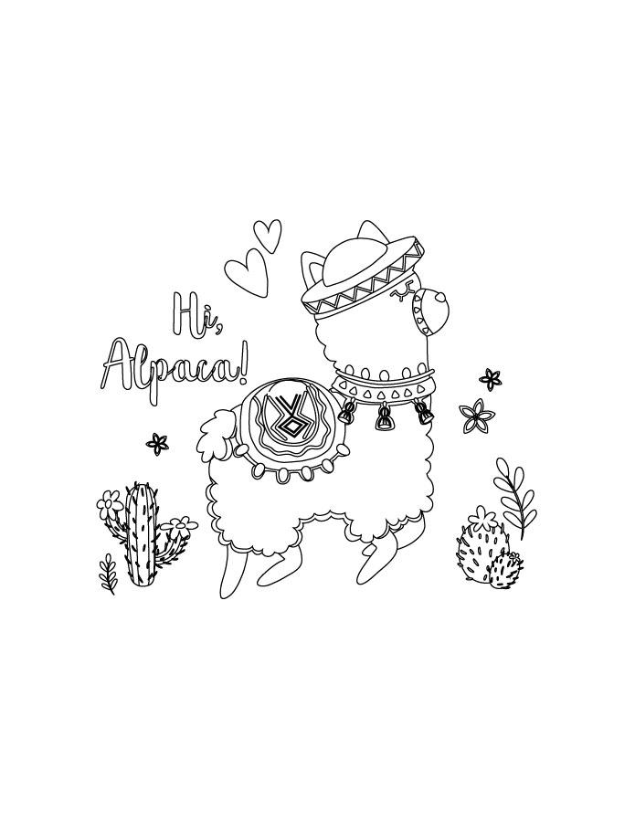 Coloriage Gratuit Fortnite.Fortnite Coloriage Alpaca A Imprimer Artherapie Ca