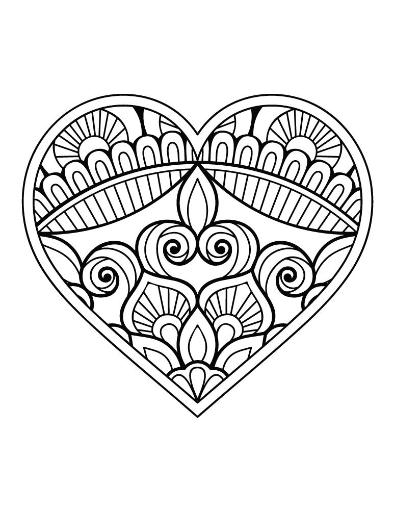 Coloriage St Valentin Coeur Dessin A Imprimer Artherapieca