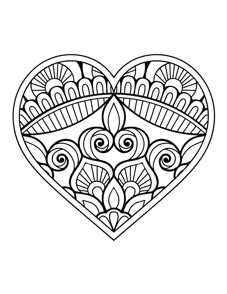 Coloriage St Valentin Coeur Dessin A Imprimer Artherapie Ca