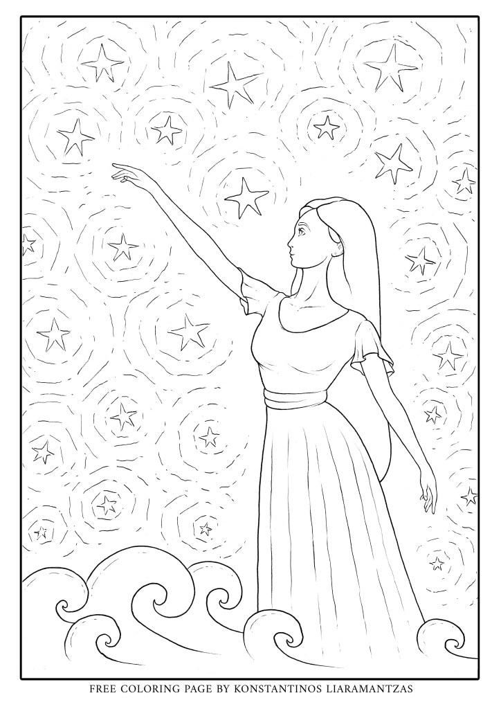 Imprimer touche les étoiles par Konstantinos Liaramantzas