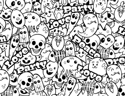 Graffiti dessin à imprimer par Macrovector