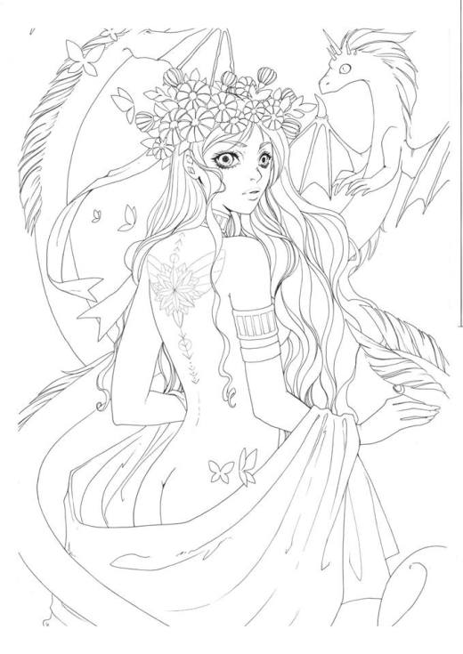 Dessin sketch princesse dragon par Dar-Chan
