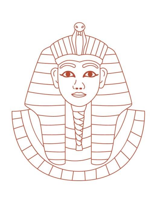 Page à imprimer dessin facile pharaon