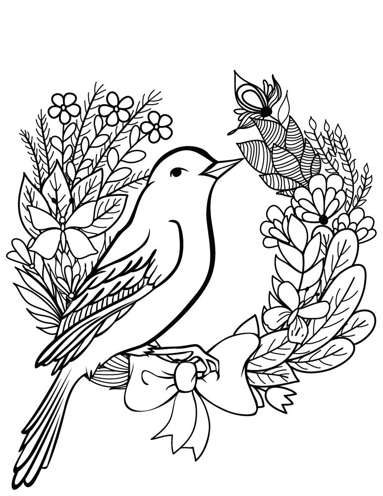 Coloriage Printemps Gratuit.Oiseau Printemps Dessin A Colorier Gratuit Artherapie Ca
