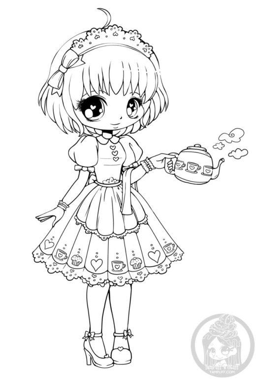 YamPuff dessin à colorier heure du thé