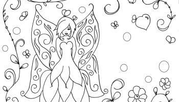 Coloriage De Princesse Et Fee.Coloriage De Princesse Fee Impression Dessin Adulte Artherapie Ca