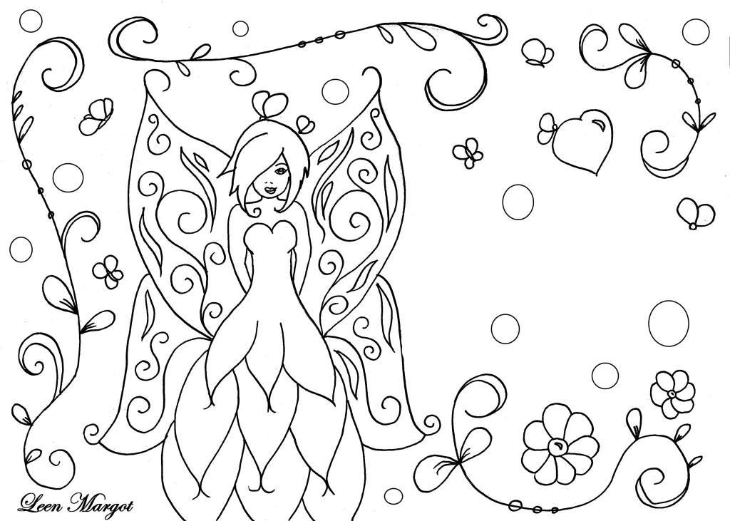 Princesse fée le dessin de Leen Margot