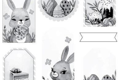 Étiquettes de Pâques a colorier gratuit