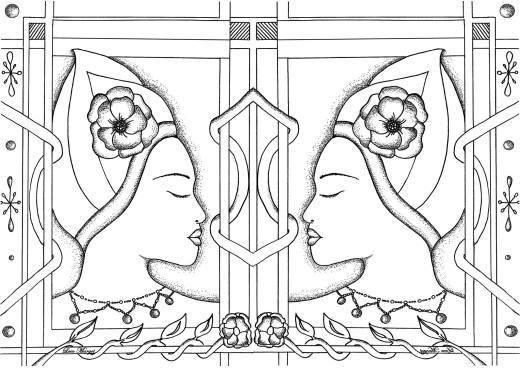 Visages jumeaux dessin de Leen Margot