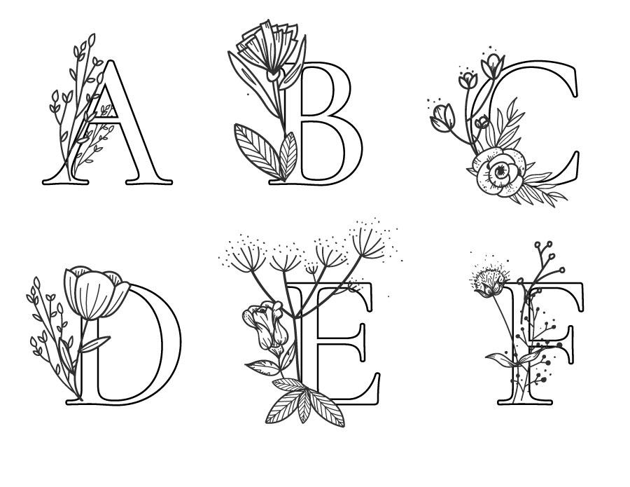 Coloriage Lettre Printemps.Affiche Lettres Fleurs Dessin Artherapie Artherapie Ca
