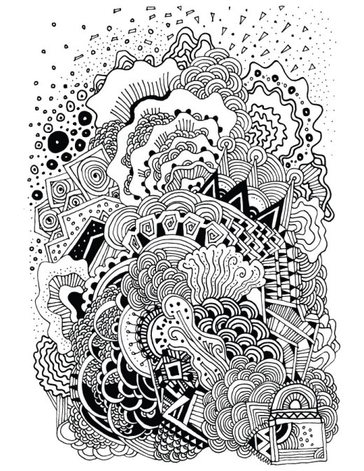 Zen doodle très difficile à imprimer