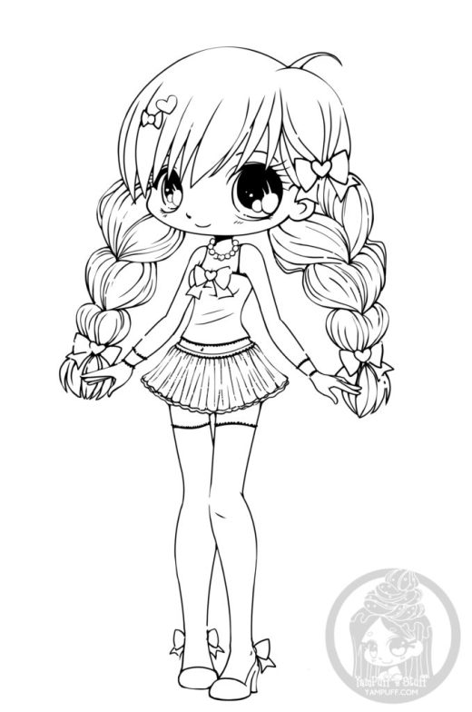 Coloriage Kawaii Archives Artherapie Ca