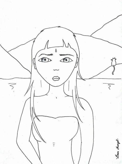 Femme à colorier de Leen Margot