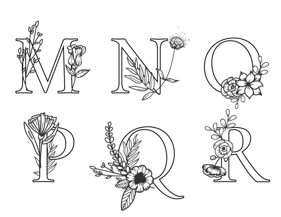 Lettres coloriage gratuit pour adulte