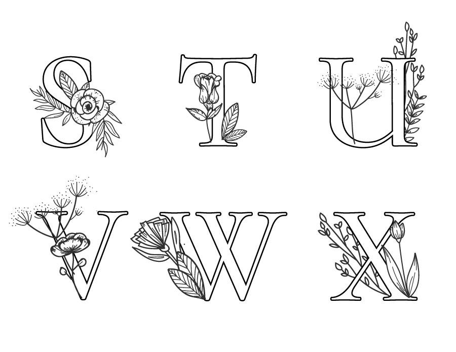 Des coloriages de lettre à imprimer