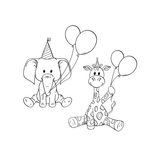 Dessin animaux mon anniversaire