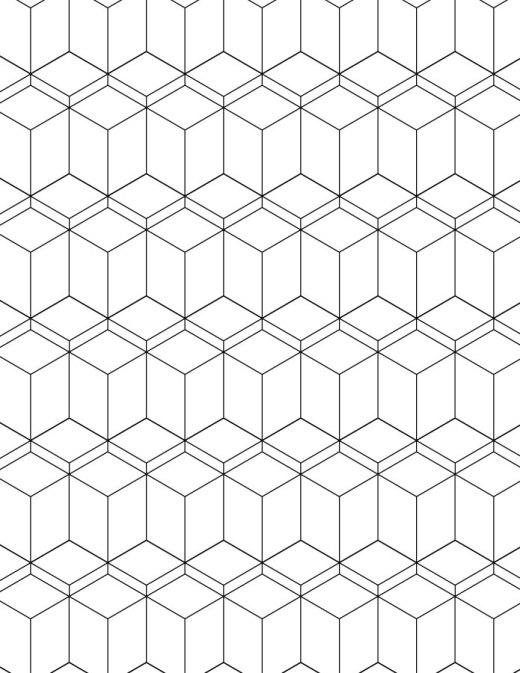 Motif géométrique dessin illusion 3D