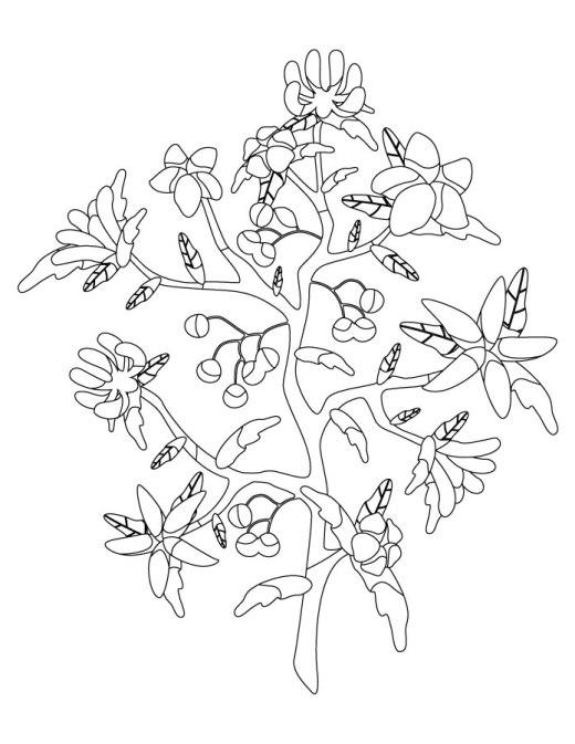 Arbre fleur à imprimer artherapie
