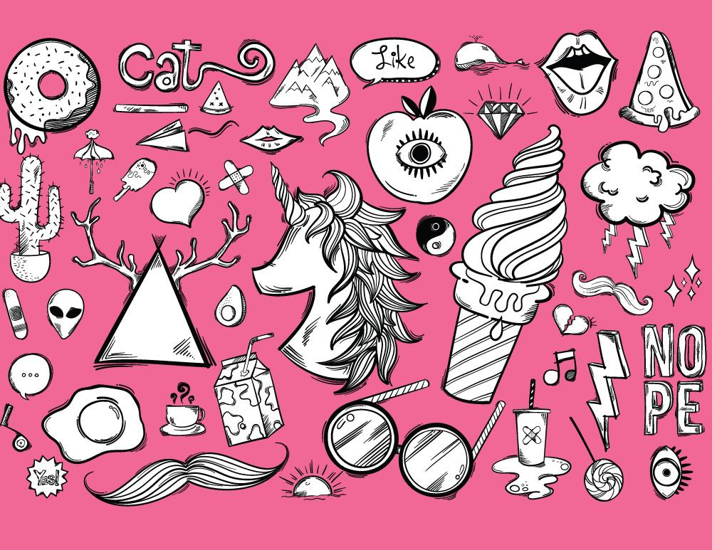 Icones kawaii dessin stamp gratuit
