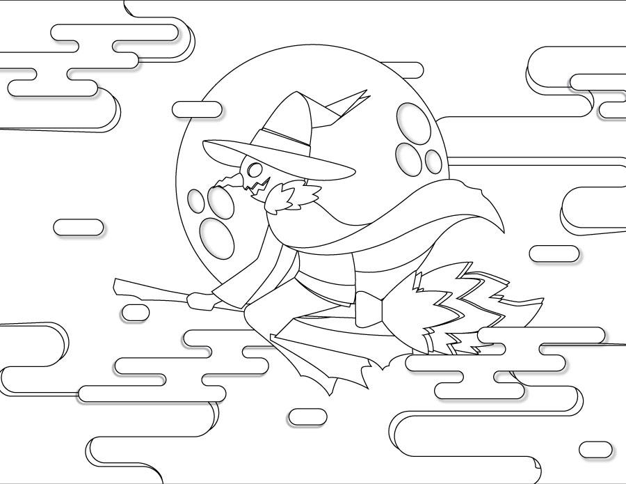 Jack-o'-lantern à colorier pour adulte