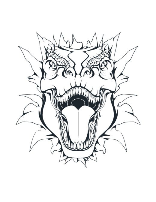 Coloriage dinosaure T-rex à imprimer