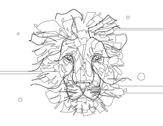 Pop art félin à dessiner gratuitement