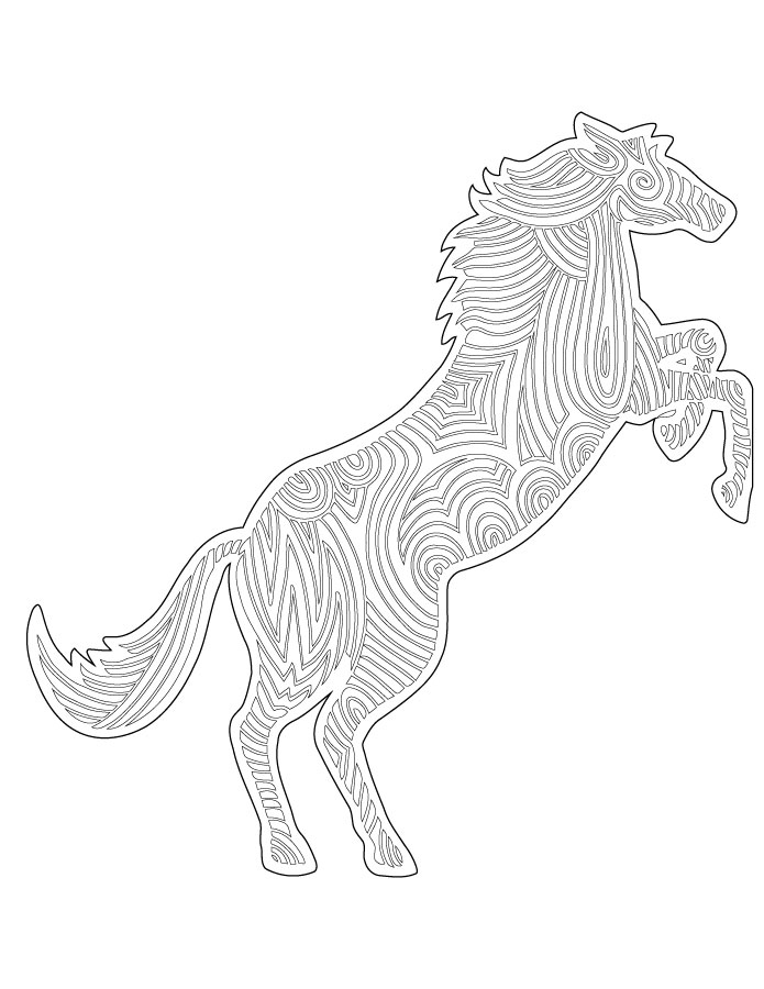 Dessin difficile gratuit cheval artherapie