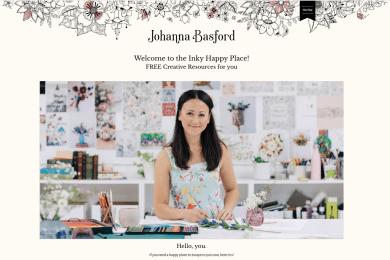 Johanna Basford : La page sans soucis
