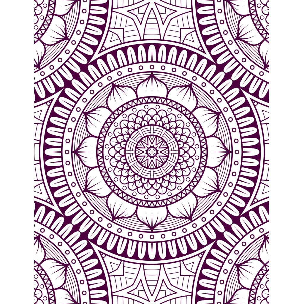 Mandalas difficile à colorier gratuit