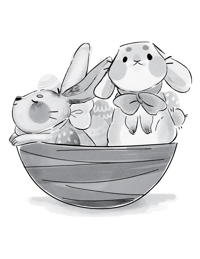 Panier lapins de Pâques gratuit
