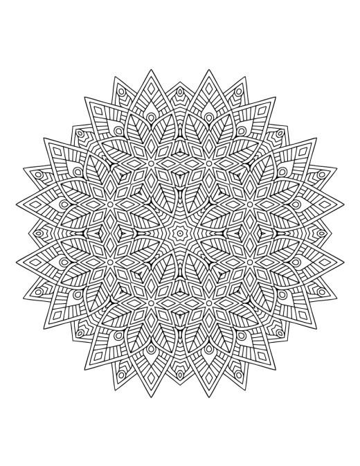 Mandala pour adulte artherapie dessin