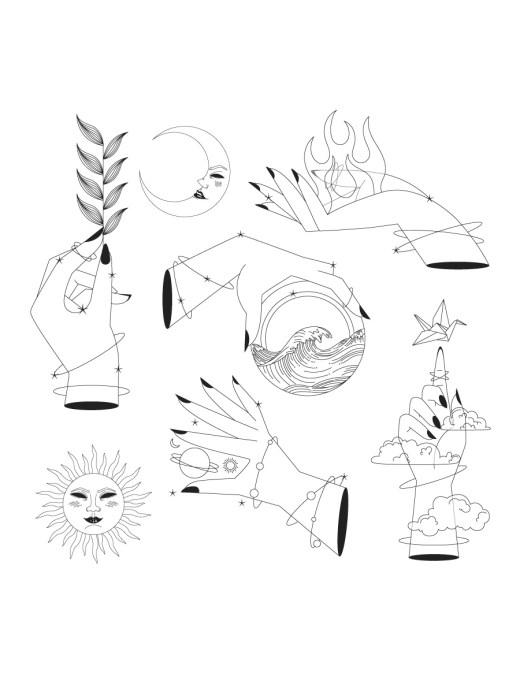 Icones ésotérisme image à colorier