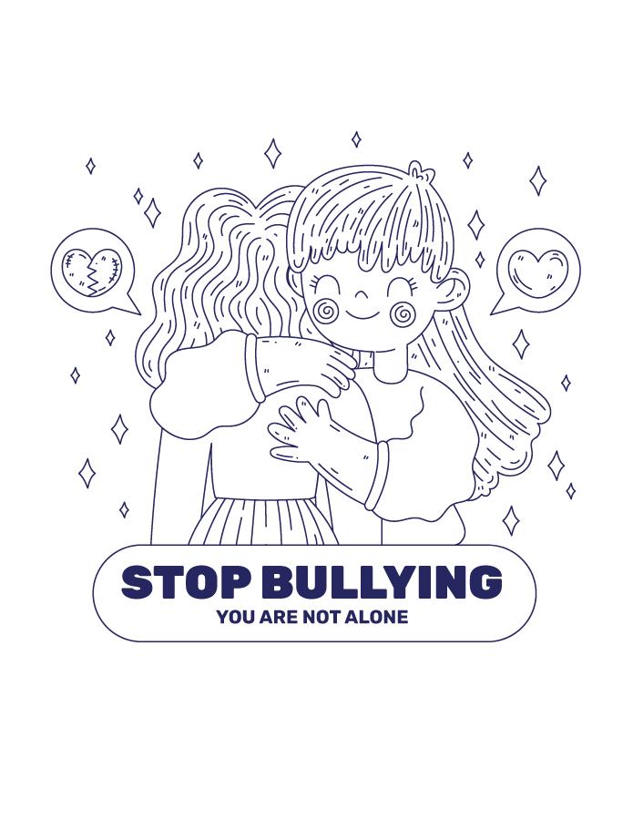 Stop au bulying à colorier gratuit