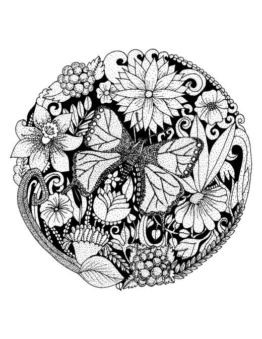 Papillon mandala à imprimer par Azerbaijan