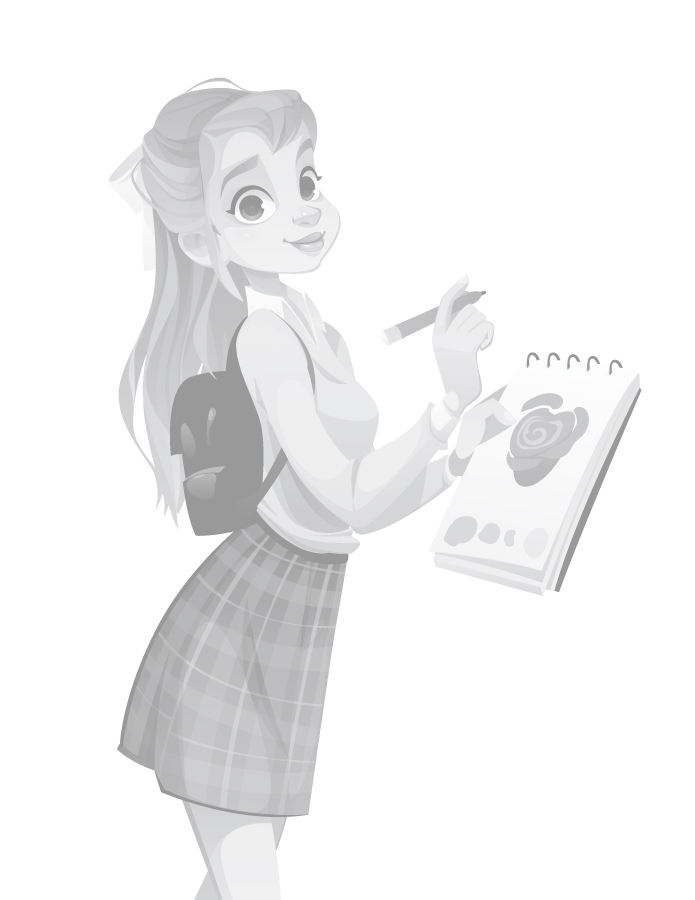 Page grayscale adolescente artiste