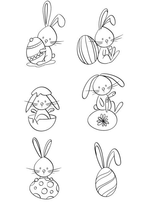 Kawaii lapins dessin de Pâques