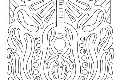 Guitare groove affiche poster à dessiner