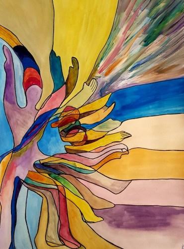 BMP – Des couleurs dans une forme de mouvement de dissociation