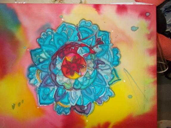 Peinture sur soi 3