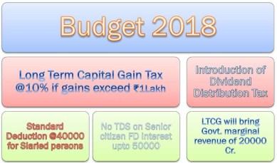 Budget 2018 main highlights
