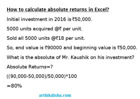 How to calculate mutual fund returns in excel