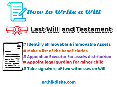 Last Will & Testament-How to write a Will