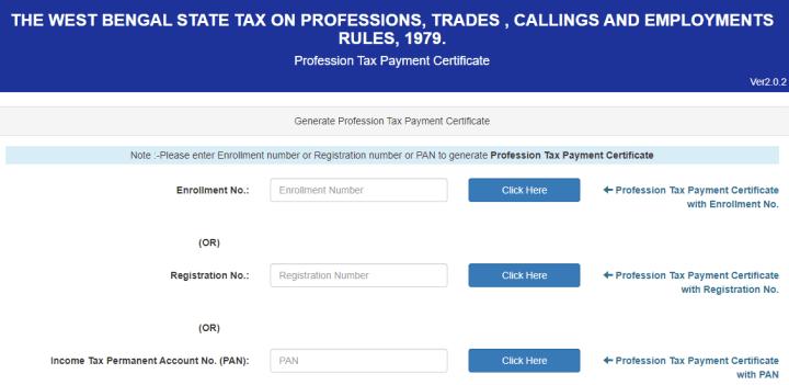 Professional Tax Certificate