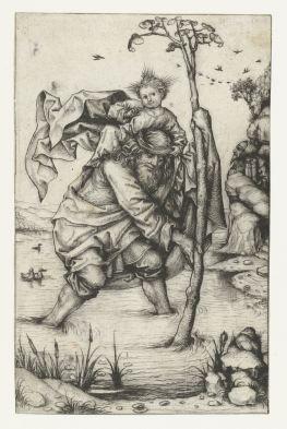 13. St Christopher, unique impression (ca. 1480-85), 16.6 x 10.5 cm, Rijksmuseum