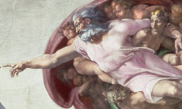 8. Michelangelo, God the Father from the Creation of Adam, Sistine Chapel