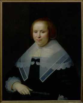 Anonymous painter, Jacoba Lampsins, 1643, Centraal Museum