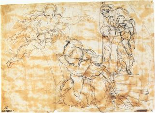 4. Raphael Santi, preparatory drawing for Noah scene, Nationalmuseum Stockholm